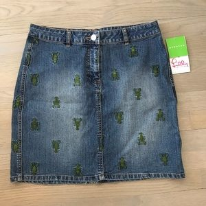 NWT Jean Lobster Skirt Lilly Pulitzer Size 6